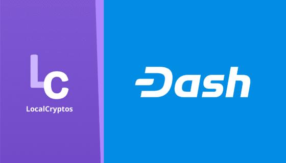 Dash entrará al mercado de criptomonedas de LocalCryptos